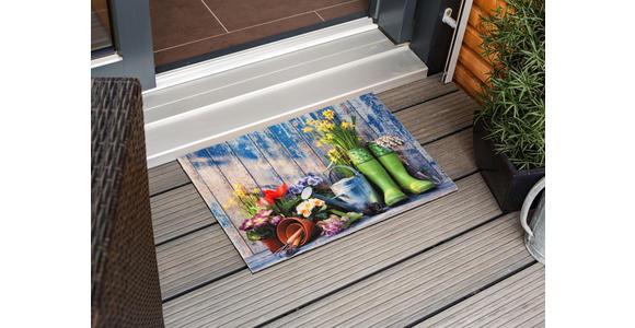 FUßMATTE 40/60 cm  - Blau/Beige, Trend, Textil (40/60cm) - Esposa
