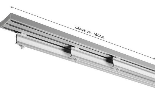 FLÄCHENVORHANGSCHIENE  160 cm - Silberfarben, Basics, Metall (160cm) - HOMEWARE