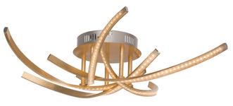 LED-DECKENLEUCHTE - Goldfarben, MODERN, Kunststoff/Metall (66cm) - Novel