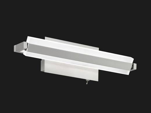 LED-WANDLEUCHTE - Weiß/Nickelfarben, KONVENTIONELL, Kunststoff/Metall (35cm)