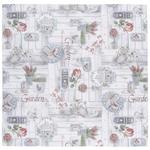 TISCHDECKE 85/85 cm   - Rot/Grau, LIFESTYLE, Textil (85/85cm) - Landscape