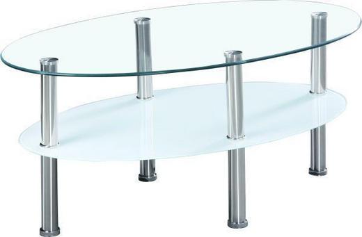 KLUB STOLIĆ - bijela/boje oplemenjenog čelika, Design, staklo/metal (90/40/55cm) - Boxxx
