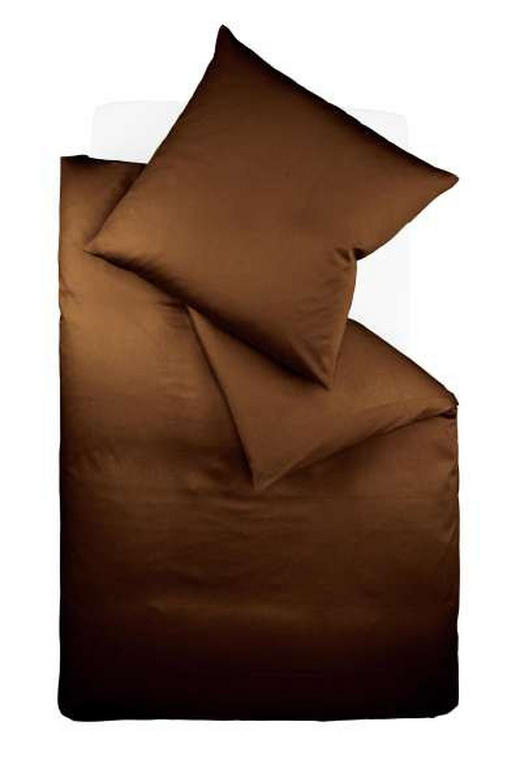 BETTWÄSCHE Makosatin Braun 155/220 cm - Braun, Basics, Textil (155/220cm) - FLEURESSE