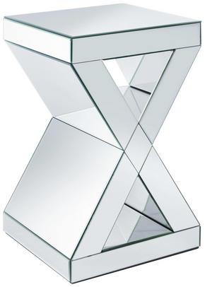 AVLASTNINGSBORD - silver, Design, glas/träbaserade material (31/51/31cm) - Ambia Home