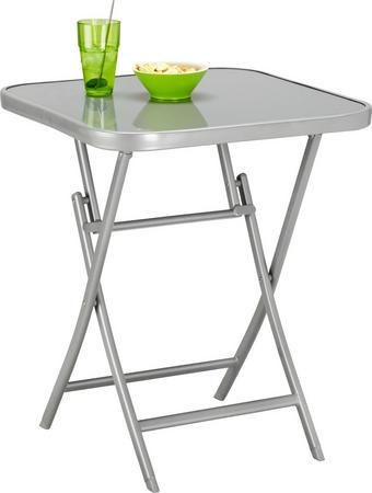 ZAHRADNÍ STŮL - barvy stříbra, Design, kov/sklo (60/70/60cm) - AMBIA GARDEN