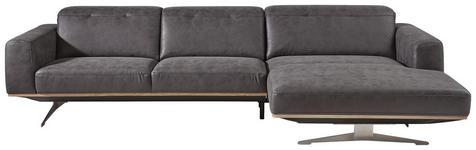 WOHNLANDSCHAFT Grau, Beige  - Edelstahlfarben/Beige, Design, Textil/Metall (311/163cm) - Dieter Knoll
