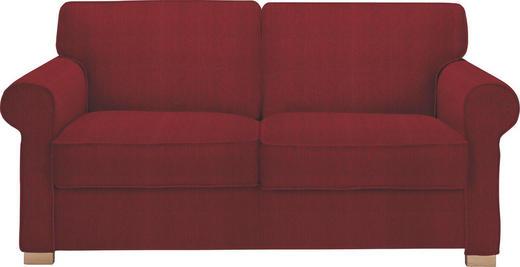SCHLAFSOFA Rot - Rot/Buchefarben, LIFESTYLE, Holz/Textil (180/86/97cm) - NOVEL