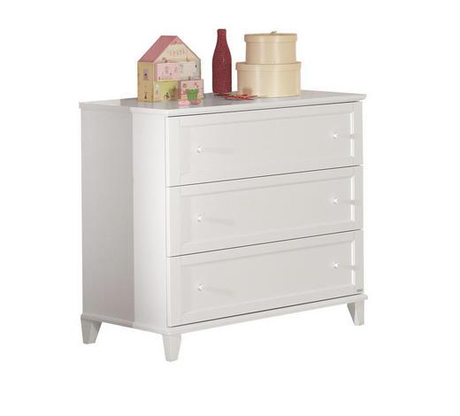 KOMMODE lackiert Weiß  - Weiß, Basics, Holzwerkstoff (96,9/91,8/56,6cm) - Paidi