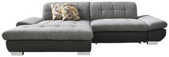 WOHNLANDSCHAFT in Anthrazit, Grau Textil - Chromfarben/Anthrazit, Design, Textil (198/290cm) - XORA