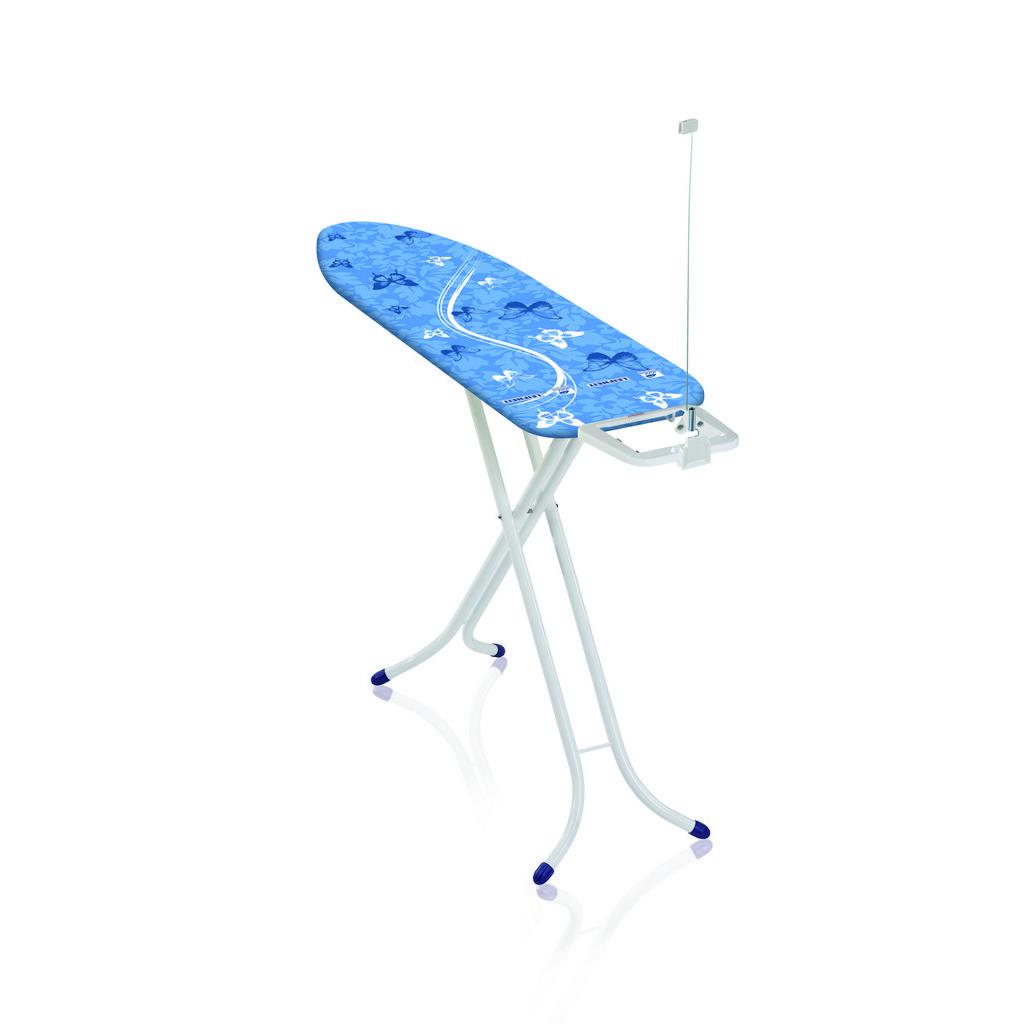 Image of Leifheit Bügelbrett , 72585 , Blau , Textil , 42x95x153 cm , beschichtet , Bezug abnehmbar und waschbar, Kabelhalterung, Bügeleisenablage , 0038720260
