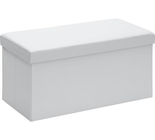 SITZBOX Lederlook, Vliesstoff Weiß  - Weiß, Design, Textil (76/38/38cm) - Carryhome