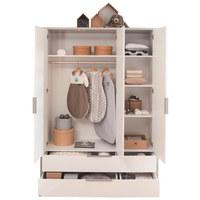 Kleiderschrank in Grau, Weiß - Weiß/Grau, Design, Holzwerkstoff/Metall (148,5/202,8/56,2cm) - Paidi