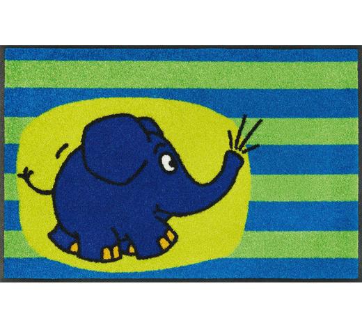 FUßMATTE  50/75 cm  Blau, Grün, Multicolor - Blau/Multicolor, Basics, Kunststoff/Textil (50/75cm) - Esposa
