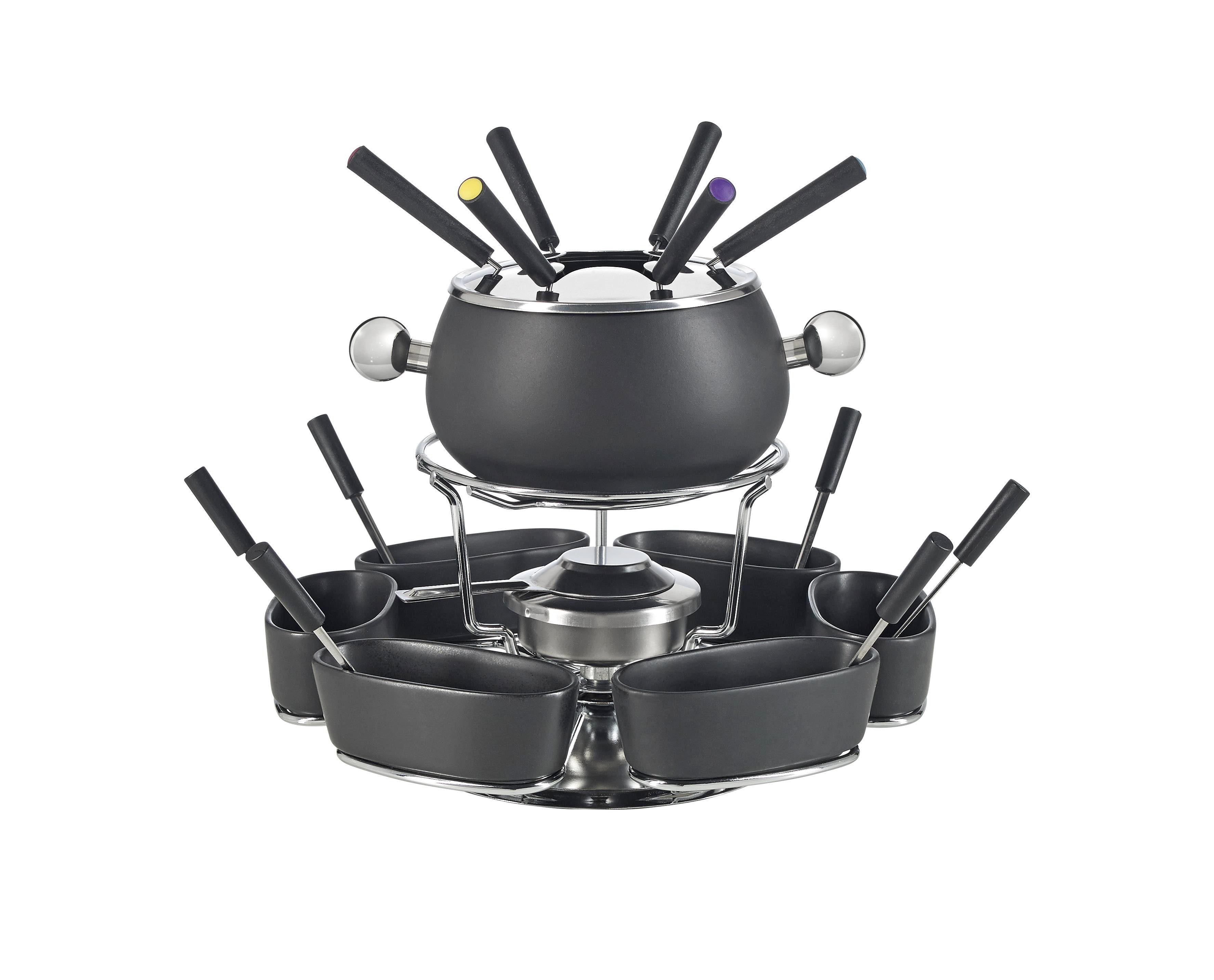 FONDUESET - svart/rostfritt stål-färgad, Basics, metall/keramik - Homeware