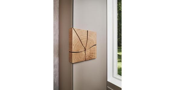 SCHRANK in mehrschichtige Massivholzplatte (Tischlerplatte), vollmassiv Kerneiche Eichefarben, Fango - Fango/Eichefarben, Natur, Glas/Holz (49,5/196/39cm) - Valnatura