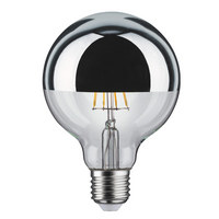 E27 LED ŽARNICA 28387 - srebrna, Konvencionalno, kovina/steklo (9,5/13,8cm) - PAULMANN