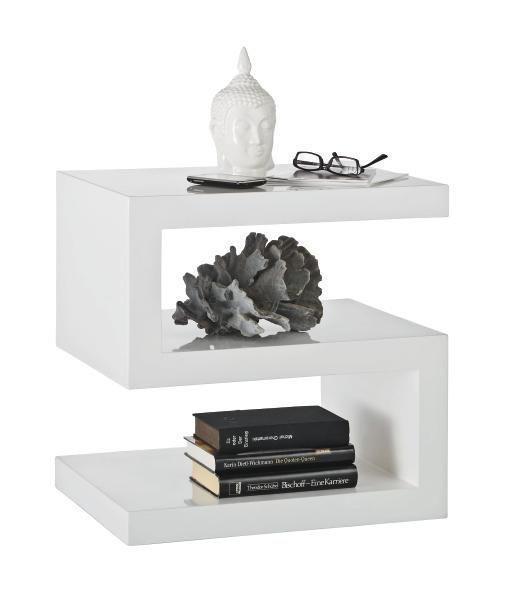 BEISTELLTISCH quadratisch Weiß - Weiß, Design (50/50/38,5cm) - Xora