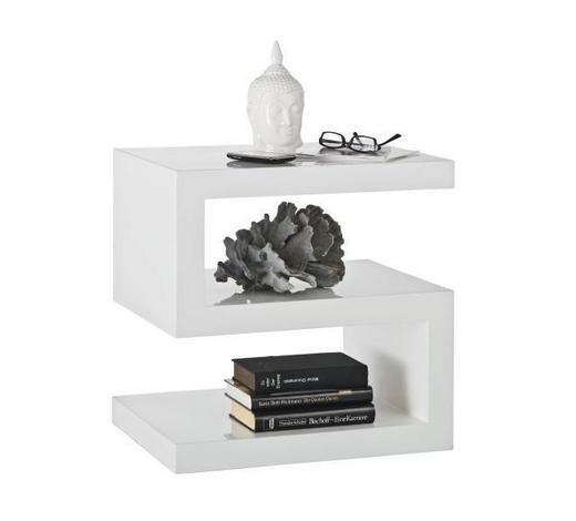 ODKLÁDACÍ STOLEK, bílá - bílá, Design, kompozitní dřevo (50/50/38cm) - Xora