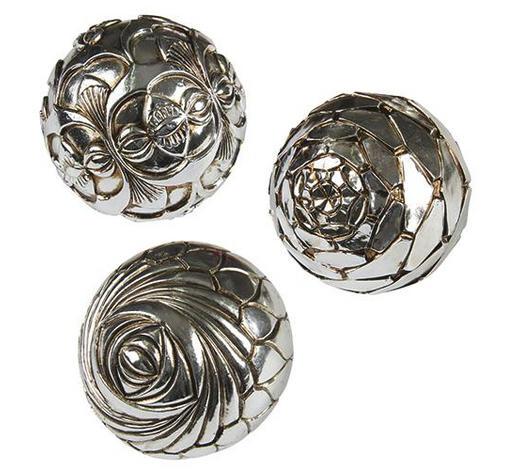DEKOKUGEL - Silberfarben, Basics, Metall (10cm) - Ambia Home