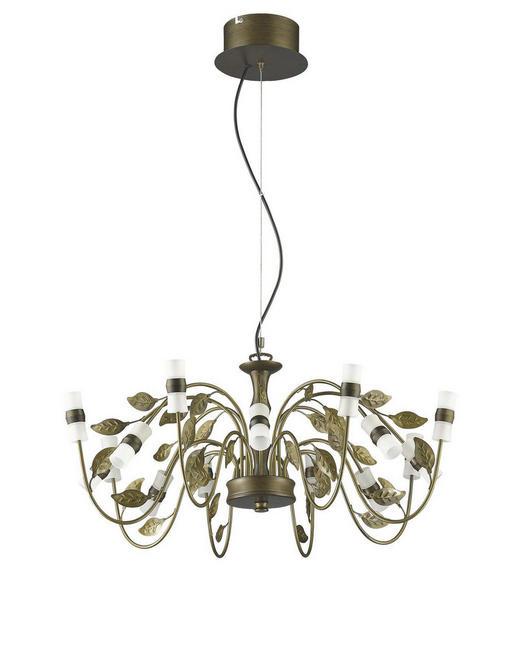 LED-HÄNGELEUCHTE - Goldfarben/Braun, Design, Glas/Metall (10/50-150cm)
