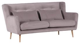 ZWEISITZER-SOFA in Textil Braun  - Braun/Naturfarben, Design, Textil (175/86/90cm) - Carryhome