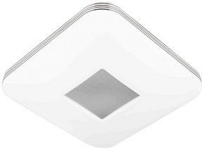 LED-TAKLAMPA - vit/kromfärg, Basics, metall (33/33/8cm) - Novel