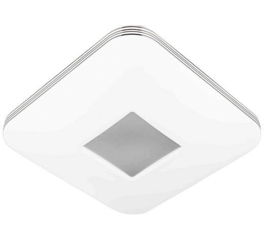 LED-DECKENLEUCHTE   - Chromfarben/Weiß, Design, Metall (33/33/8cm) - Novel