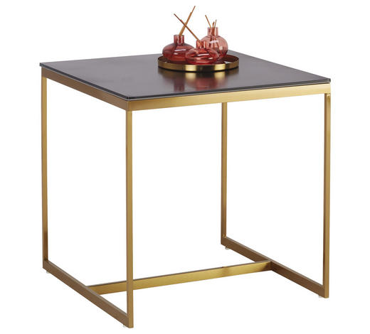 COUCHTISCH in Metall, Glas, Keramik - Goldfarben/Schwarz, Trend, Glas/Keramik (55/55/55cm)