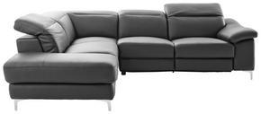SOFFA - furufärgad/kromfärg, Design, läder/textil (219/267cm) - Cantus