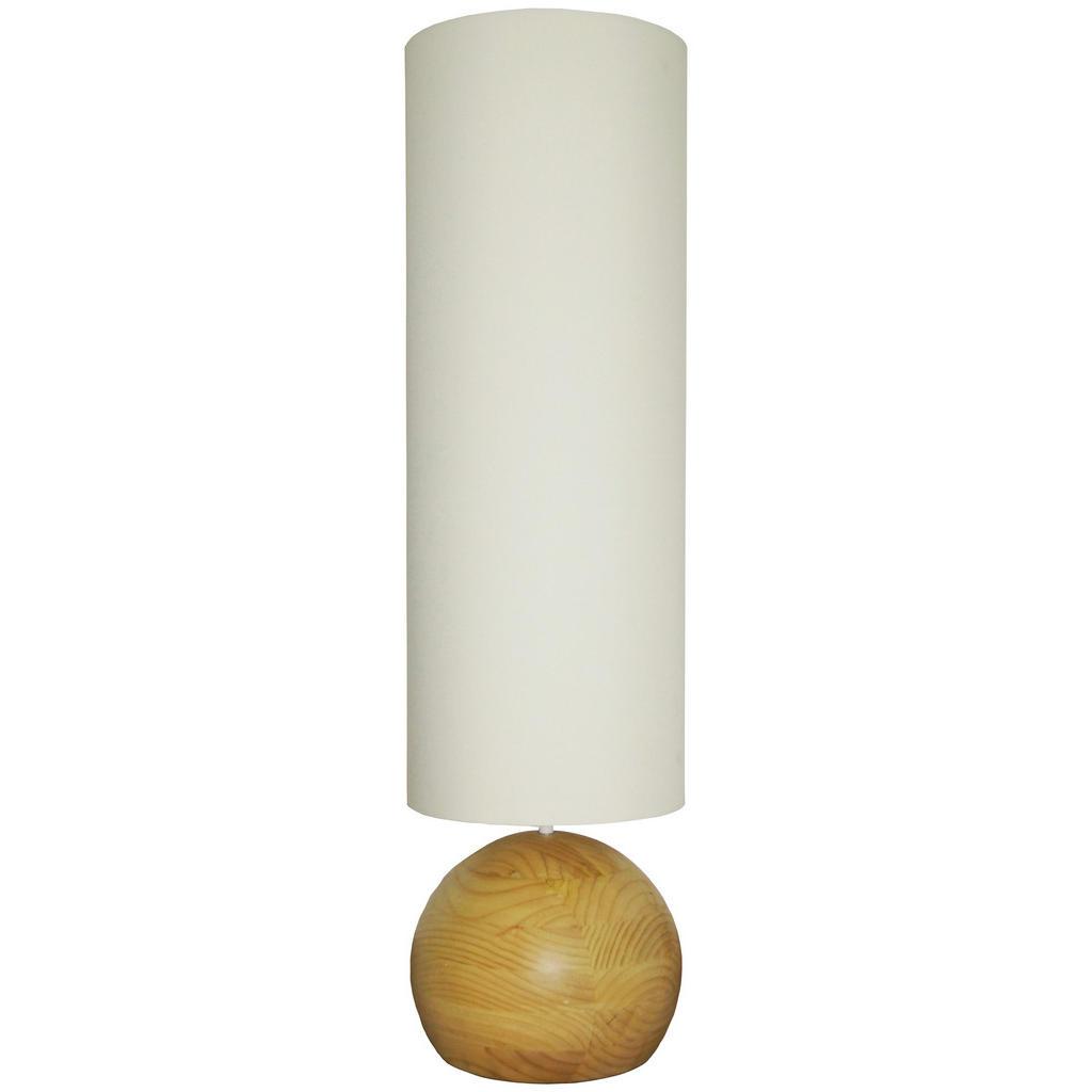 Stehleuchte 'Merida' mit Lampenfuß und hohem Lampenschirm