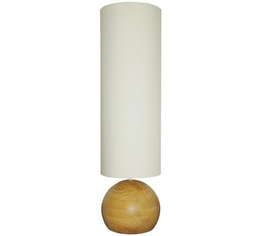 STEHLEUCHTE - Champagner, LIFESTYLE, Holz/Textil (36/130/36cm)