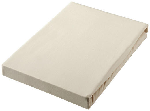SPANNBETTTUCH Jersey Taupe bügelfrei, für Wasserbetten geeignet - Taupe, Basics, Textil (100/200cm) - Boxxx