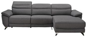 WOHNLANDSCHAFT in Textil Grau - Silberfarben/Grau, Design, Textil/Metall (269/167cm) - Xora
