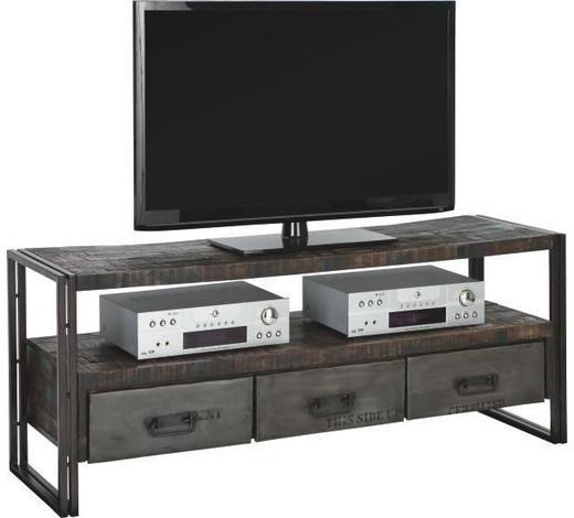 TV DÍL - hnědá, Design, kov/dřevo (150/60/45cm)