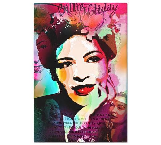"KEILRAHMENBILD ""Bill Holiday LR2""  - Multicolor, Trend, Textil (120/80cm) - Wiedemann"