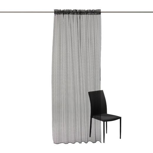 FERTIGVORHANG  transparent  140/245 cm - Schwarz, Basics, Textil (140/245cm) - Ambiente