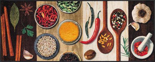 FUßMATTE 75/190 cm Graphik Multicolor, Naturfarben - Multicolor/Naturfarben, Basics, Kunststoff/Textil (75/190cm) - Esposa