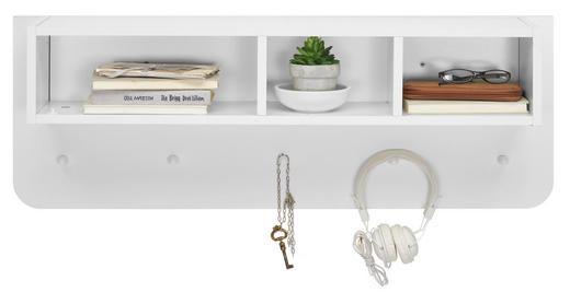 WANDBOARD Weiß - Weiß, Design, Holz (95/34/20cm) - Carryhome
