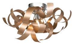 LED-DECKENLEUCHTE   - Kupferfarben, Design, Metall (42/24cm) - Ambiente