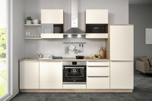 Küchenblock ohne E-Geräte 290,5 cm - Eichefarben/Magnolie, Design (290,5cm) - Set one by Musterrin