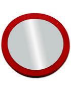 OGLEDALO, umetna masa  - rdeča, Konvencionalno, umetna masa (16/3cm)