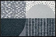 FUßMATTE 50/75 cm Graphik Grau, Hellgrau  - Hellgrau/Grau, Basics, Kunststoff/Textil (50/75cm) - Esposa