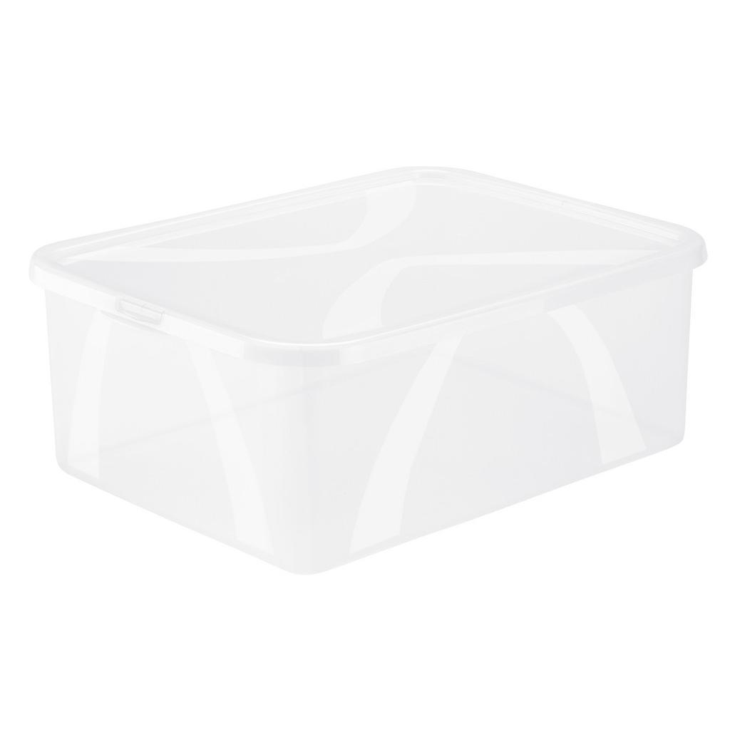 Image of Rotho Box mit deckel 36,3/26,6/13,4 cm , 1163500096 , Naturfarben , Kunststoff , 26.6x13.4 cm , Deckel abnehmbar, stapelbar , 003294001803