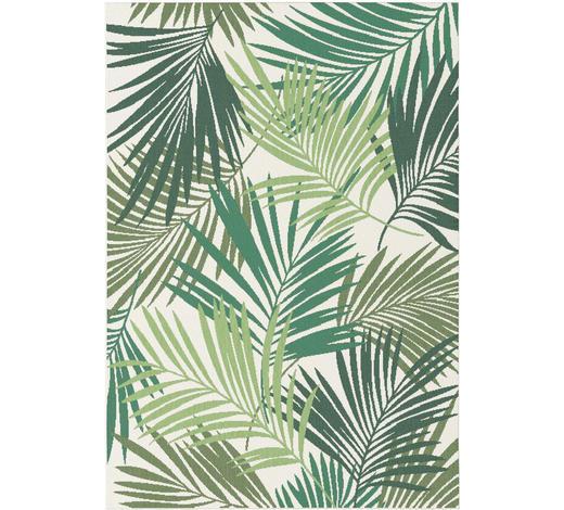 FLACHWEBETEPPICH  160/230 cm  Grün, Naturfarben   - Naturfarben/Grün, Design, Textil (160/230cm) - Boxxx