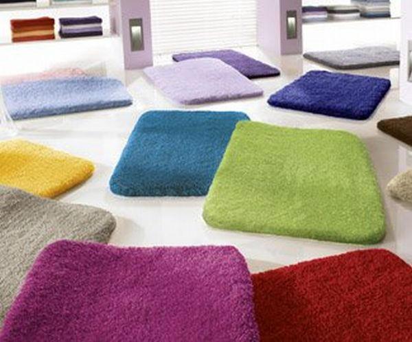 BADTEPPICH  Kirschbaumfarben  55/65 cm - Kirschbaumfarben, Basics, Kunststoff/Textil (55/65cm) - KLEINE WOLKE