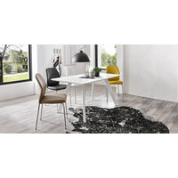 STOLICA - boje kroma/svijetlo siva, Design, metal/tekstil (47/90/58cm) - Carryhome