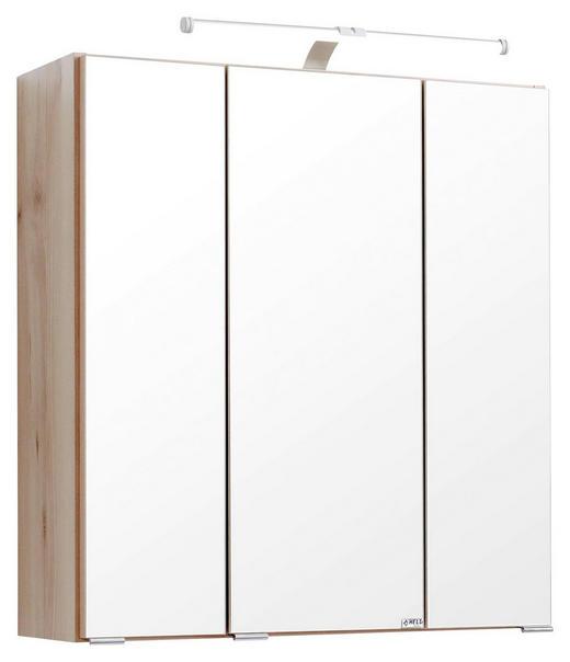 SPIEGELSCHRANK Buchefarben - Chromfarben/Buchefarben, Design, Holzwerkstoff/Metall (60/66/20cm) - Carryhome