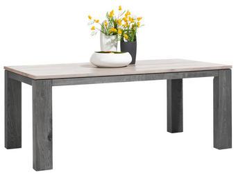 JÍDELNÍ STŮL, částečně masivní, dub, světle šedá - světle šedá, Lifestyle, dřevo (100/78/190,250cm) - LANDSCAPE