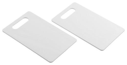 SCHNEIDEBRETT Kunststoff - Weiß, Basics, Kunststoff (15/0,6/25cm) - Justinus