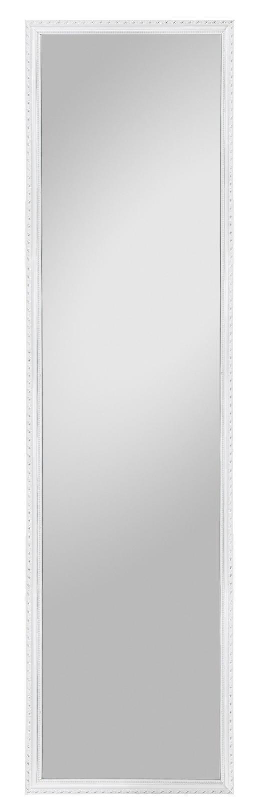 SPIEGEL Weiß - Weiß, Design, Glas/Holz (35/125cm) - Carryhome